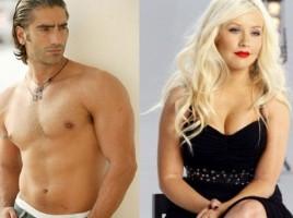 Christina Aguilera and Alejandro Fernandez together